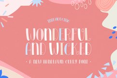 Wonderful and Wicked Font Product Image 1