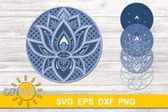 3D Layered SVG Mandala Lotus SVG 4 layers Product Image 2