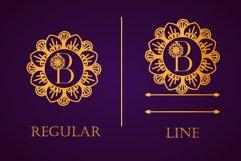 Flower Mandala Monogram Font Product Image 2
