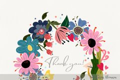 Wild flowers clipart in svg dxf png eps for commercial use Product Image 2