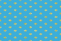 Blue Glitter Geometric Digital Papers Product Image 2
