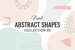 Pastel Abstract Shapes collection #5 Product Image 1