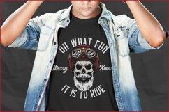 Biker Skull SVG, Christmas SVG, Retro Biker T-Shirt Design Product Image 3