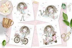 Cute Teen Girls 2, Digital Clipart, Fashion Girls, Valentine Product Image 3