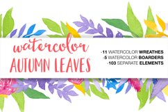 Watercolor Autumn Leaves Product Image 1