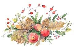 Autumn bouquet Watercolor png Product Image 1