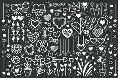 Cartoon Doodle Heart Clip Art Set Product Image 2