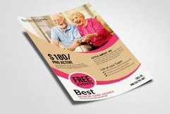 Old Care Homes Flyers Template Product Image 2