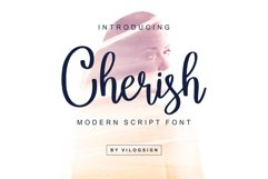 Cherish // Modern Script Font Product Image 1