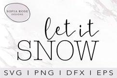 let it SNOW SVG-Christmas SVG-Holiday SVG-Digital Cut File Product Image 1