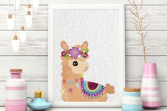Colorful Llamas - Decorated Llama - clipart - Alpaca Product Image 3