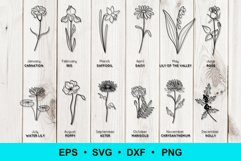 Birth Flowers Clip Art | Vector Files Product Image 1