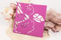 Water Lily Invitation cutting file Product Image 3