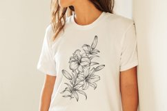 Flowers sublimation, hand drawn lillies PNG Product Image 4