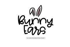 Bunny Ears - A Fun Handwritten Script Font Product Image 1
