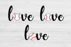 Love Baseball Svg Designs, Baseball Love Svg Files Cricut Product Image 2