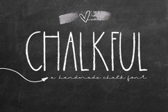 Chalkful - A Handmade Chalk Font Product Image 1
