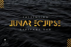 Lunar Eclipse Font Duo + Extras Product Image 1