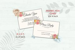 Wedding Invitation Set #3 Watercolor Floral Flower Style Product Image 4