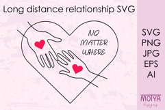 Long distance love svg, Valentines svg Product Image 1
