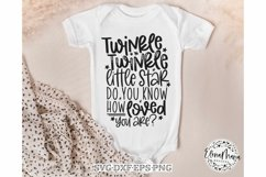 Baby SVG File | Twinkle Twinkle Little Star Svg Product Image 1