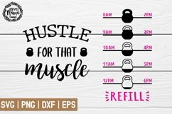 Hustle for that muscle Svg, Water bottle svg Product Image 1