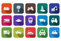 Set Of Transport Icons Product Image 1