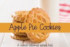 Web Font Apple Pie Cookies - A Hand-Lettered Script Font Product Image 1