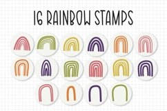 56 Brushes, Rainbow Procreate Brush/Stamp Bundle Product Image 2