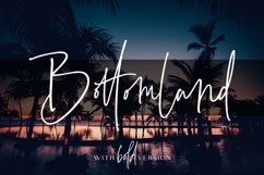 Bottomland - Family Signature Script Product Image 1