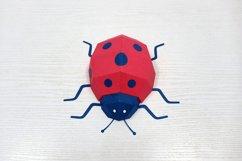 DIY Papercraft Ladybug,Lady bug,Lady beetle,Ladybug svg,dxf Product Image 2