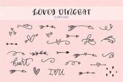 Lovey cute valentines heart font family Product Image 3