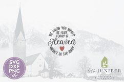 We Know You Would Be Here SVG, Memorial Ornament SVG Product Image 2