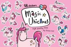 Magic Unicorns 18 stickers Rus-Eng Product Image 1