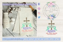 He Is Risen As He Said Matthew 28 SVG DXF FCM LL106E Product Image 1