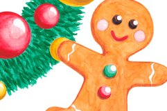 Christmas clipart set Watercolor Christmas elements Product Image 3