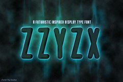 ZZYZX a futuristic Scifi Inspired Display Font Product Image 1