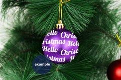 Purple Bauble Mockup, Round Christmas Ornament Mockup PSD Product Image 3