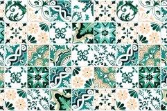 Emerald Azulejo Tiles Digital Papers Set 5 Product Image 2