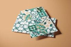 Emerald Azulejo Tiles Digital Papers Set 5 Product Image 4
