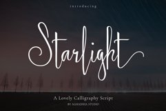 Starlight - Lovely Calligraphy Font Product Image 1