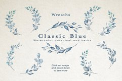 Classic Blue Watercolor Botanical Product Image 5