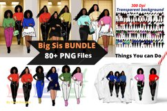 Afro lady Clip art, Big sis bundle, black girl, Afro clipart Product Image 1