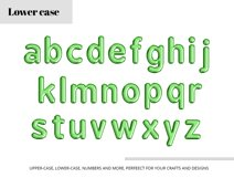Green Foil Balloon Letters Numbers & Symbols Clipart Product Image 4
