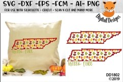 Tennessee Autumn Fall Leaves Pattern SVG Product Image 1