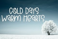Web Font Cold Days - A Cute Hand-Lettered Font Product Image 3