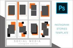 Orange Instagram Stories Photoshop Template Post Product Image 3