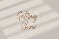 Getting Shine - Stylish Script Product Image 1