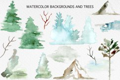 Winter Forest Watercolor Graphic Set Product Image 4