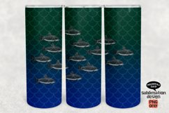 Fish Tumbler SUBLIMATION png, 20 oz Skinny, School of Fish Product Image 1